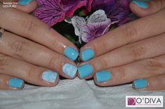 "Bluesky (голубое покрывало А93) http://odiva.ru/~fT8TI Milv, слайдер-дизайн ""Узор 215/s145"" http://odiva.ru/~wm26s  #гельлак #шеллак #shellac #bluesky #блюскай #дизайнногтей #ногти #идеиманикюра #маникюр"