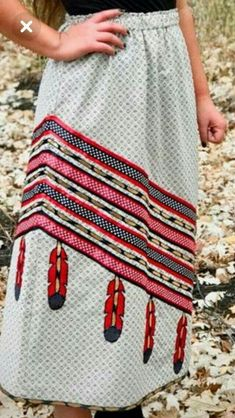Swans Style is the top online fashion store for women. Shop sexy club dresses, jeans, shoes, bodysuits, skirts and more. Native American Clothing, Native American Fashion, Traditional Skirts, Jingle Dress, Ribbon Skirts, Ribbon Work, Thing 1, Sewing Clothes, Dress Patterns