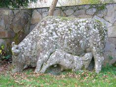 Escultura de Victor Corral en Baamonde - Begonte - Lugo