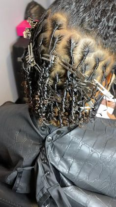 Starting locs on loose curl pattern Wig Styles, Curly Hair Styles, Natural Hair Styles, Dreads Styles, Short Locs Hairstyles, Hairstyle Men, Formal Hairstyles, Coiling Natural Hair, Beautiful Dreadlocks