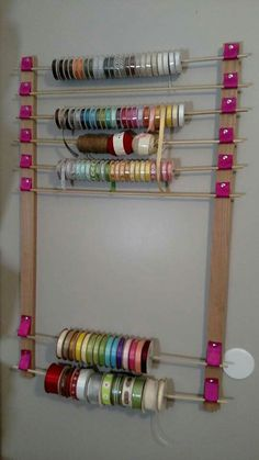 Diy craftroom organization unexpected creative ways to organize your craft room Sewing Room Storage, Sewing Room Organization, Craft Room Storage, Sewing Rooms, Sewing Diy, Craft Rooms, Organizing Tips, Storage Ideas, Arts And Crafts For Teens
