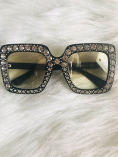 f290a214b2 2018 NEW Oversized Square Frame Bling Rhinestone Sunglasses Women Fashion  Shades  fashion  clothing