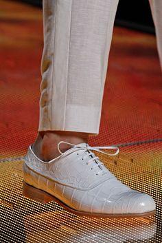 Louis Vuitton Spring 2013 White Croc Shoes