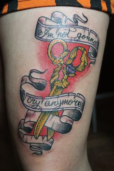 my scissor tattoo, from Argentina :). the phrase it's for the song Marry the night from Lady gaga :)