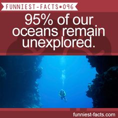 95% of our oceans remain unexplored. MORE OF FUNNIEST-FACTS are coming here funny, interesting and weird facts only http://funniest-facts.com/post/96317391958/funny-interesting-and-weird-facts-only