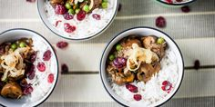 A rich mushroom and cranberry vegetable pulao is served with aromatic rice in this warming recipe from Alfred Prasad. Curry Recipes, Vegetarian Recipes, Rice Recipes, Indian Dessert Recipes, Ethnic Recipes, Indian Recipes, Vegetable Pulao Recipe, Mushroom Curry, Alfred Prasad