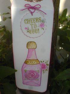 Handgemalte in Aquarell Technik Geschenk Anhänger für Flaschen man braucht keine Karte mehr und kann seine Wünsche auf die Rückseite nieder schreiben ... schöne Idee und mal was anders ....
