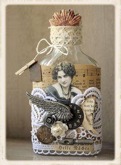 Shabby chic: Вдохновение - Shabby Chic Altered Bottles