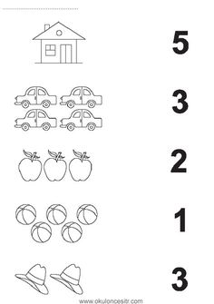 Number matching worksheet cards and preschool kindergarten . - Szilvia Szabó - Welcome to Pin World Matching Worksheets, Kindergarten Math Worksheets, Preschool Kindergarten, Worksheets For Kids, Math Literacy, Preschool Learning Activities, Preschool Curriculum, Preschool Printables, Preschool Writing