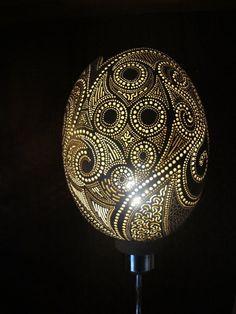lampe HARMONIE en calebasse