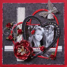 Heart Frame. Love black, red & white