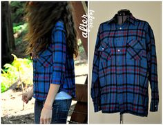 Refashion Lumberjack shirt into fitted button down