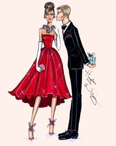 #Hayden Williams Fashion Illustrations #'Red Romance' by Hayden Williams
