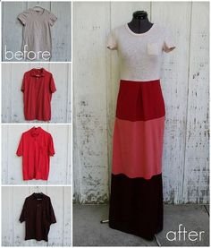 DIY ASOS Inspired Tee Shirt Maxi Dress Tutorial - and many other tee inspired things here: http://truebluemeandyou....