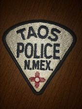 Taos New Mexico Police Patch