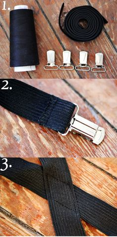 DIY Suspenders. I see this as an awesome Christmas gift idea for all my hipster barista friends.