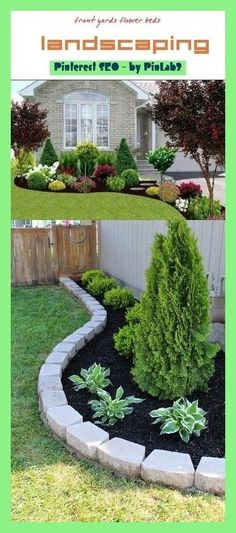 front yards flower beds - front yard ideas no grass Front Yard Patio, Small Front Yard Landscaping, Front Yard Fence Ideas Curb Appeal, Rustic Landscaping, Garden Landscaping, Landscaping Ideas, Jardines Del Patio Frontal, Front Flower Beds, Ideas Para El Patio Frontal