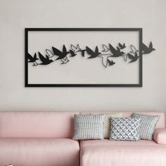 Metal Wall Art Metal Home Decor Wall Office Hanging Living Room Wall Hanging Unique Wall DecorBlack Metal Art Metal Birds Black Birds
