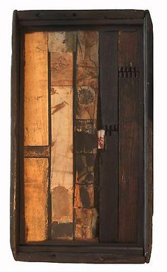 Untitled, 1981 Wood, paper and ink 12.13 x 6.75 x 3.63 inches