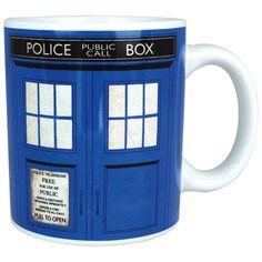 Doctor Who Tardis Mug ($12) ❤ liked on Polyvore featuring home, kitchen & dining, drinkware, mug, doctor who mug and dr who mug