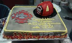 Firefighter Retirement cake, whole