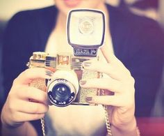 Lomography Diana F+ Gold Medium Format Camera with Flash