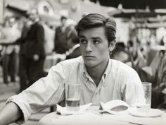 Alain Delon looking over there.