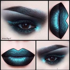 depechegurl Lips - Venom Liquid Lipstick and Lumi Eyeshadow on top. Eyes - Dark Matter Eyeshadow and Lumi Eyeshadow. Brows - Black Gel Liner and Lumi Eyeshadow. Makeup Inspo, Makeup Art, Lip Makeup, Makeup Inspiration, Makeup Ideas, Eyebrow Makeup, Movie Makeup, Witch Makeup, Makeup Tutorials