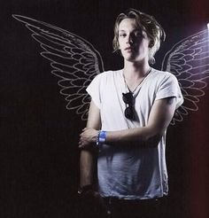 He has never seen an angel? Really , he should look in the mirror