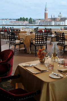 Oh to have breakfast here with a beloved! Hotel Danieli, Venice--Restaurant Terrazza Danieli-view