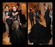 Christina Ricci wearing Zac Posen at the 2011 Met Costume Gala