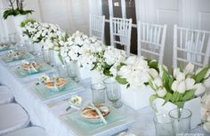 New Wedding Reception Tablescapes Round White Flowers Ideas Reception Table, Wedding Reception Decorations, Table Decorations, Party Tables, Wedding Tables, Wedding Ideas, Flower Centerpieces, Flower Arrangements, White Flowers
