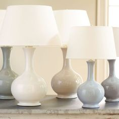Suzanne Kasler Gourd Lamps Smokey Gray