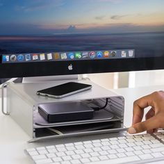 HiRise Mac Stand & Storage System by Twelve South - $80