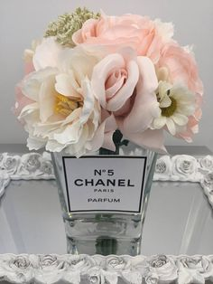 Ready Made Chanel Perfumes Inspired Floral Arrangement Pink