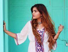 Kritika Khurana, Global Desi, Boho Girl, Indian Designer Outfits, Boho Chic, Bohemian, Kimono Top, Poses, Photography