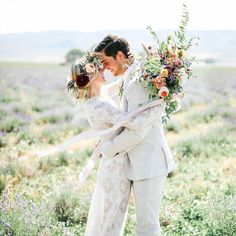 Wild at Heart – Carefree Bohemian Wedding in Peach and Sage