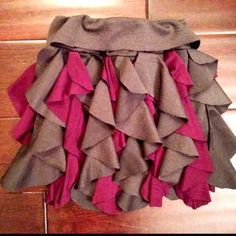 Cascading ruffle skirt tutorial with template (could also use ruffle template to make a cascade from the neckline of a blouse or dress)