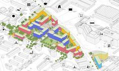 2. Preis: Strukturpiktogramm | Isometrie, © André Poitiers Architekt RIBA Stadtplaner