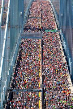 Awesome pic of the NY Marathon, wishing the Ultra Marathon will look like this picture..