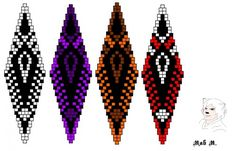 Various ornaments earrings brick weave. There is a new idea on June 20 .. | biser.info - all about beads and beaded works
