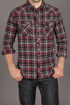 Nuco Ranger Western Flannel Shirt Black:: I like men in flannel. Mens Flannel, Flannel Shirts, Flannels, Farm Fashion, Mens Fashion, Casual Jeans, Men Casual, Jack Threads, Vogue