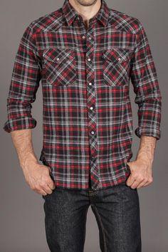 Nuco Ranger Western Flannel Shirt Black:: I like boys in flannel...