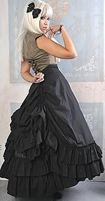 Gothic Victorian Long Bustle Skirt from Retroscope Fashions, $89.99