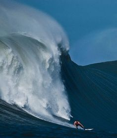 Mavericks in the winter when it's the biggest!