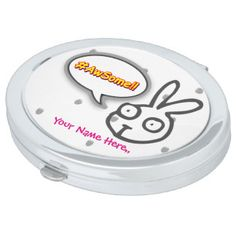 Awful Compact Mirror Bunny Motif