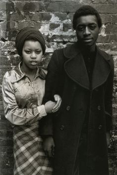 A young couple in Brixton 1970s.