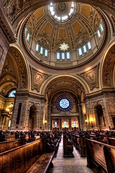 Cathedral of Saint Paul, St Paul, Minnesota Sacred Architecture, Historical Architecture, Church Architecture, Amazing Architecture, Old Catholic Church, Houses Of The Holy, Church Interior, Cathedral Church, Old Churches