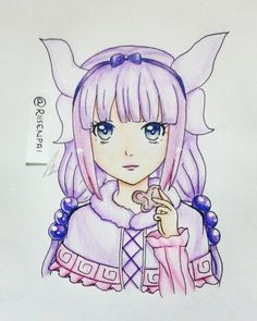 Follow instagram : @riisenpai  Kamui Kanna drawing #Loli #kawaii