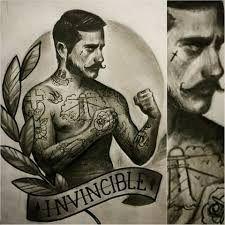Resultado de imagem para old school boxer with beard illustration